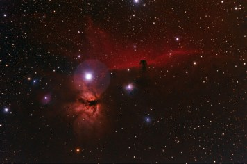 Horsehead and Flame Nebula. Telescope: ED80 Camera: QHY8 Exposures: 5x1200 sec Processing: Pixinsight 1.5, Photoshop cs3 Location: Chiliomodi, Corinthia