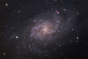 M33 Galaxy. Telescope: AT8RC Camera: QHY8 Exposures: 5hours and 10 min Processing: Pixinsight, ps Location: Corinthia, Greece