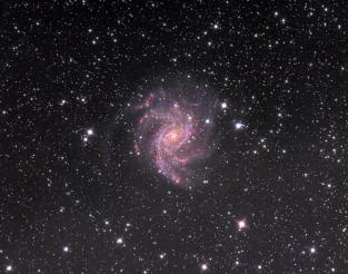 NGC 6946, Fireworks Galaxy. Telescope: AT8RC Camera: QHY9 Exposures: L: 120 min bin 1x1, Ha: 60 min bin 2x2, RGB: 25,5,15 min bin 2x2 Seeing: 3.5 arc sec, sqm 20.35 Processing: Pixinsight 1.6, ps cs4 Location: Corinthia Greece