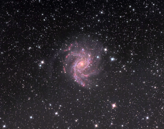 NGC 6946, Fireworks Galaxy. Telescope: AT8RC Camera: QHY9 Exposures: L: 120 min bin 1x1, Ha: 60 min bin 2x2, RGB: 25,5,15 min bin 2x2 Seeing: 3.5 arc sec, sqm 20.35 Processing: Pixinsight 1.6, ps cs4 Location: Corinthia Greece