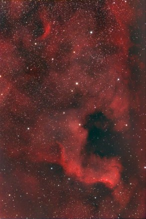 NGC 7000, North America Nebula. Telescope: Skywatcher ED80 Guide scope: Bresser 70/700 Mount: HEQ6 pro autoguided Camera: QHY8 Guide camera: QHY5