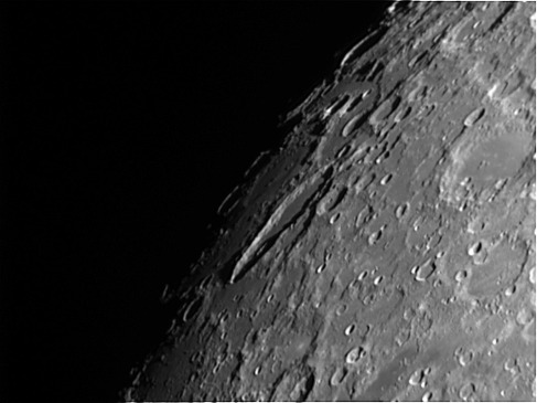 Crater Schiller and area. Telescope: C9.25 at f10 Camera: DMK21AU04 Processing: Registax 4, Photoshop cs3